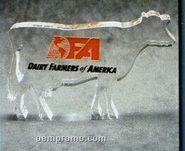 Acrylic Paperweight Up To 16 Square Inches / Cow