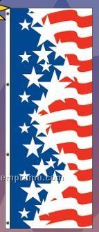 America Forever Free Flying Drape (Star/Narrow Stripes)