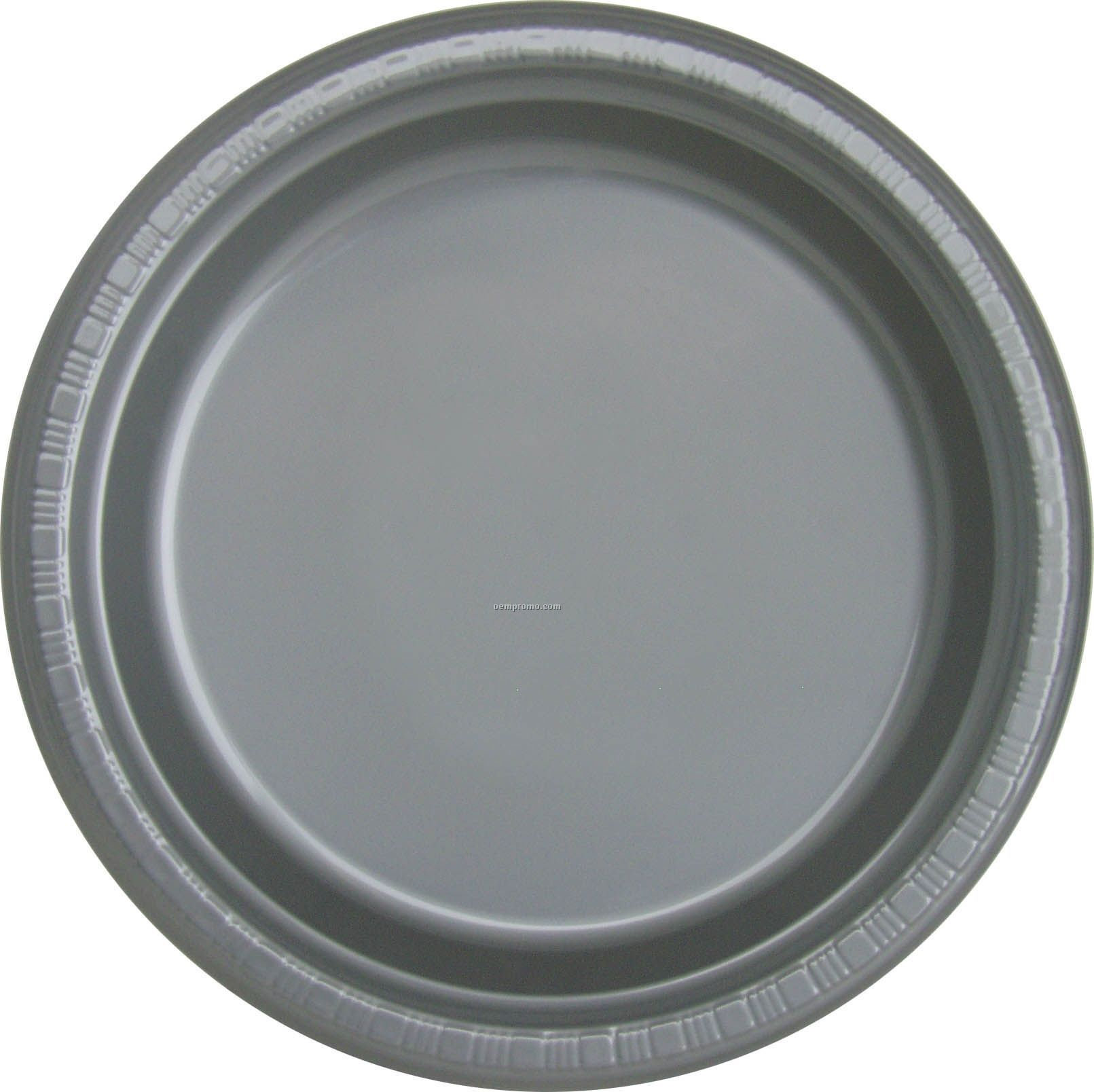 Colorware 9 Quot Silver Gray Shimmering Silver Plastic Plate China Wholesale Colorware 9 Quot Silver