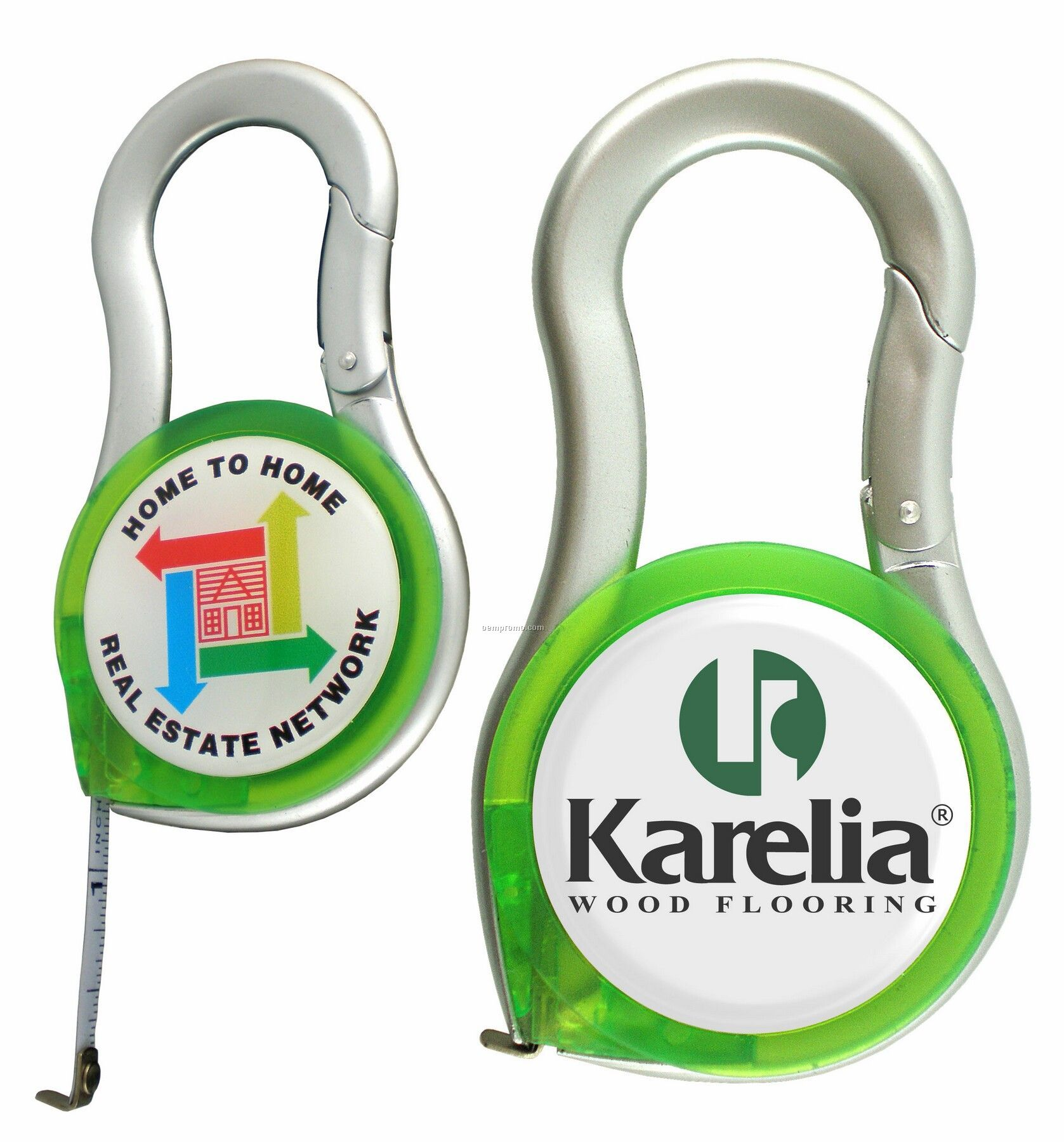 Domed Carabiner Measuring Tape Combo