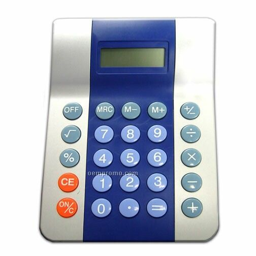 Eight Digit Two Tone Executive Desktop Calculator