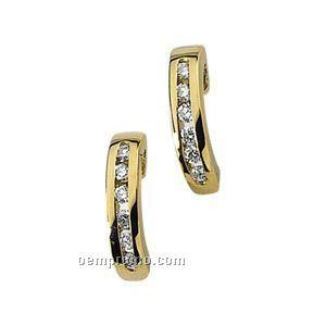Ladies' 14ky 1/5 Ct Tw Diamond Round Earring