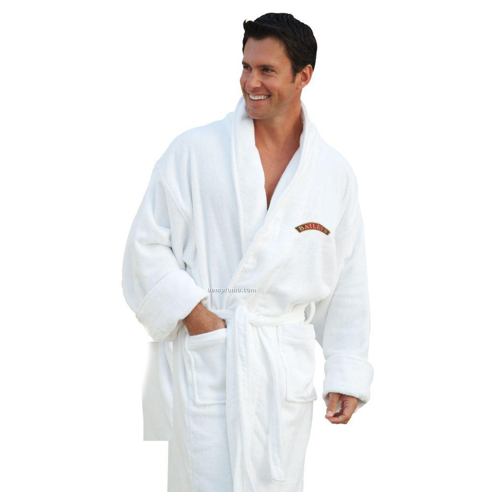 "Shawl Collar Terry Velour Robe 50"" - 1 Size (Blank)"