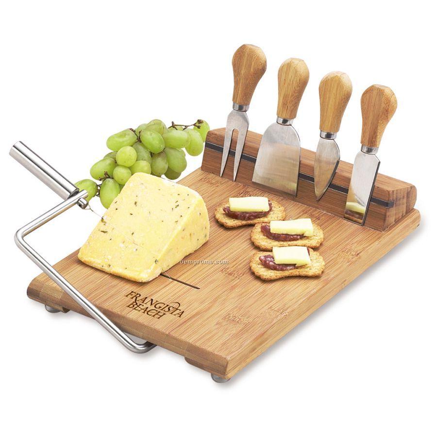 Silton Bamboo Cheese Board Set