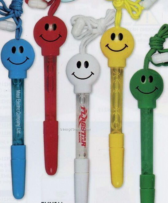 Smile Bubble Pen W/ Break Away Lanyard