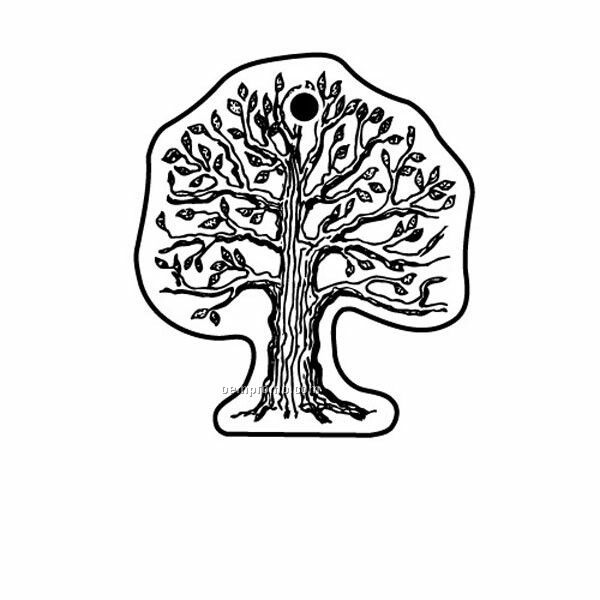 Stock Shape Collection Tree 2 Key Tag