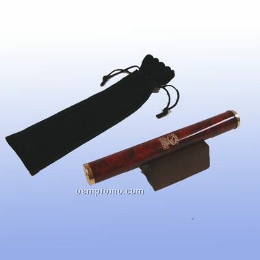 Burgundy Marbleized Brass Kaleidoscope W/ Pouch (Screened)