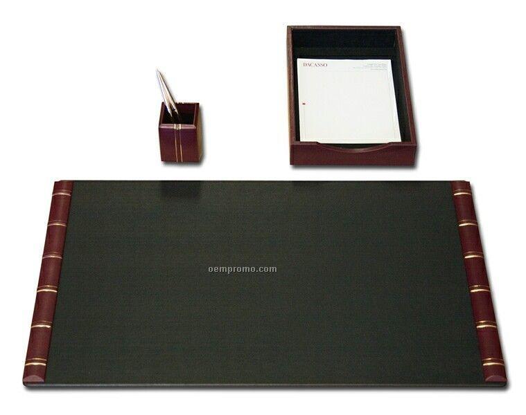 Burgundy Desk Pad Design Ideas