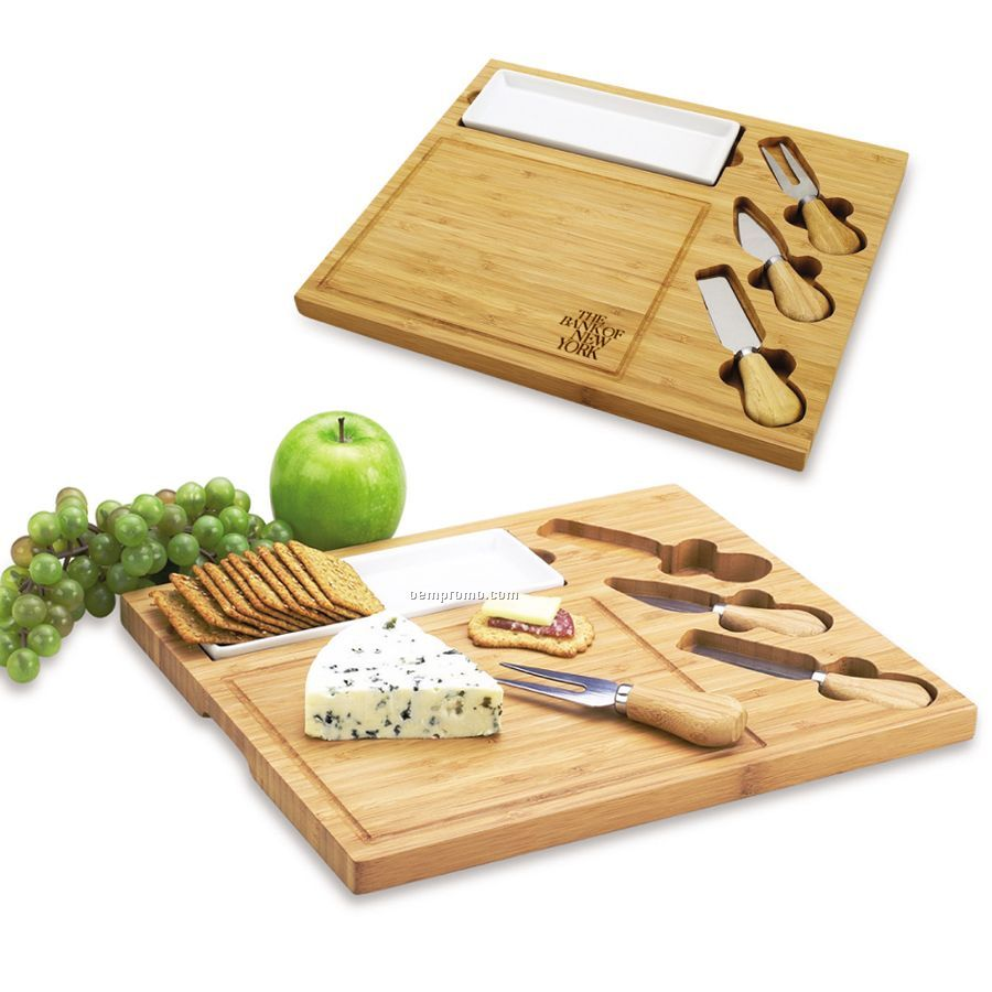 Celtic Bamboo Cheese Board Set