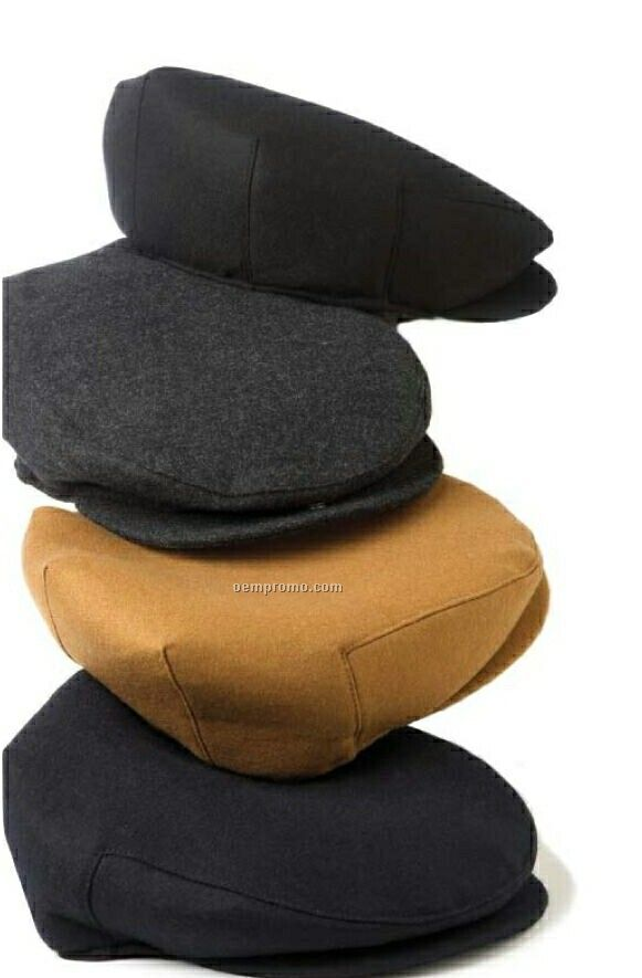 Wolfmark Navy Blue Wool Driver's Cap
