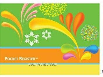 Atm / Debit Card Pocket Register - Color Blast / Party Design