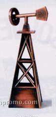 Bronze Metal Pencil Sharpener - Windmill