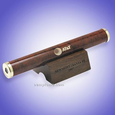 Burgundy Marbleized Brass Kaleidoscope W/ Pouch (Engraved)