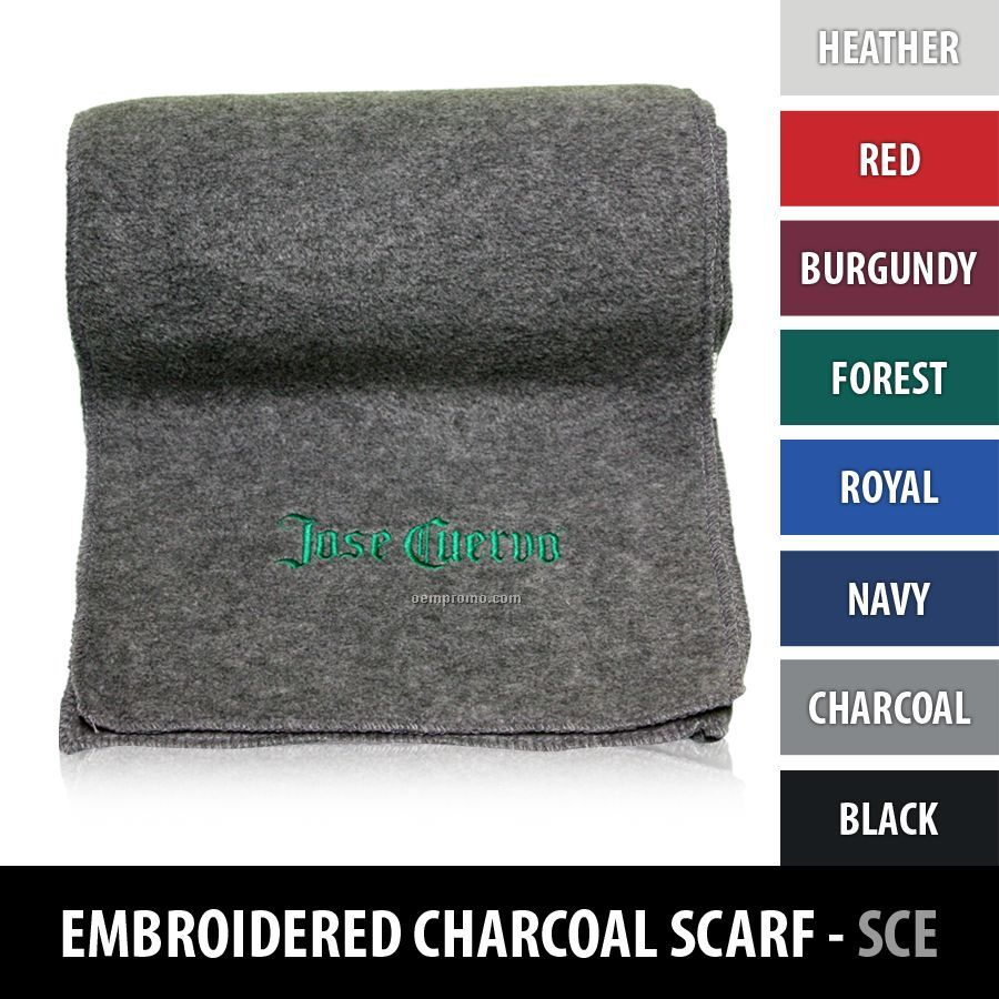 Fleece Scarf - Embroidered