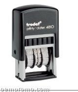 "Trodat Rectangle Self Inking Printy Dater Stamp - Date Only (7/8""X13/16"")"