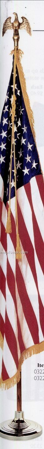 U.s. Flag Mountings W/ Liberty Floor Stand & Spear (4'x6')