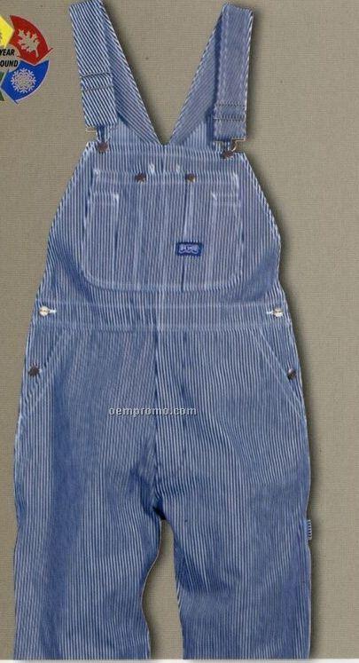 Walls Hickory Stripe Zip Fly Bib Overalls