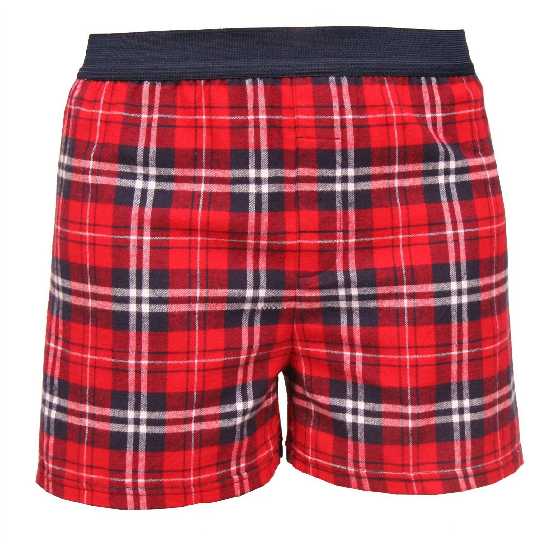 Youth Navy/Red Plaid Classic Boxer Short