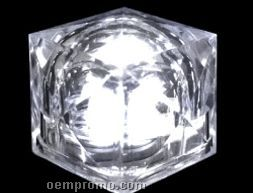 Blank White Crystal Light Up Ice Cubes