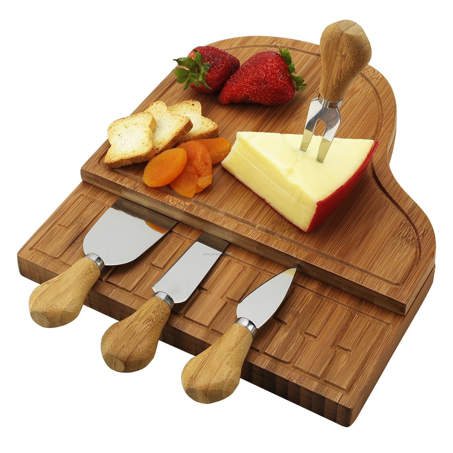 Grand Bamboo Piano Cheese Board Set