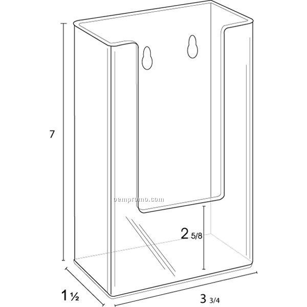 Single Pocket Wall Mount Brochure Holder 3 3/4 X 8 1/2