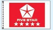 Stock Dealer Logo Flags - Five Star Red