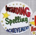 Stock Recognition Button - Outstanding Spelling Achievement