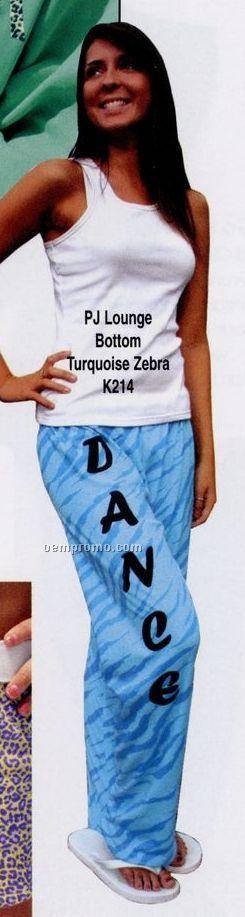 Youth Kashmere Pj/ Lounge Pants W/ Pink Black Cheetah Print (Xs-l)