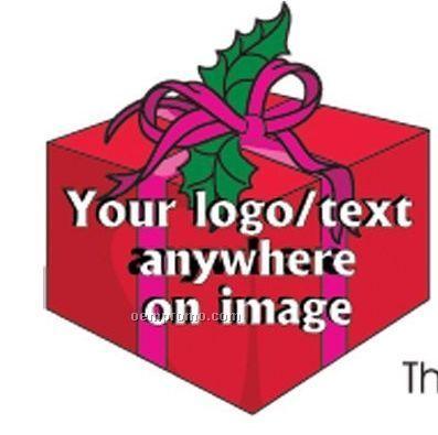 Christmas Gift Box Acrylic Coaster W/ Felt Back