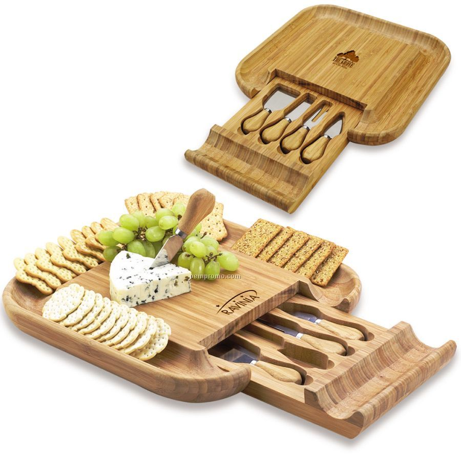 Malvern Bamboo Cheese Board Set