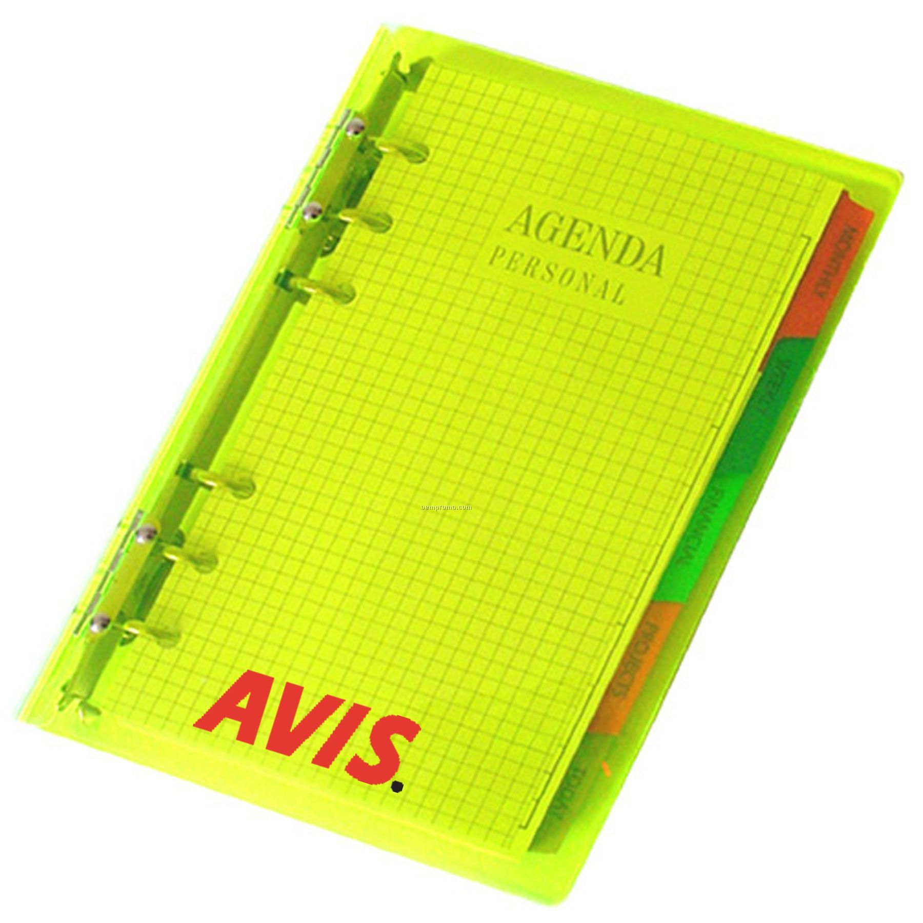 Mid-sized Acrylic 3-ring Notebook Planner