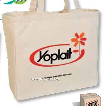 100% Organic Cotton Tote Bag W/ Long Shoulder Straps