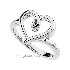 14kw Open Heart Ring
