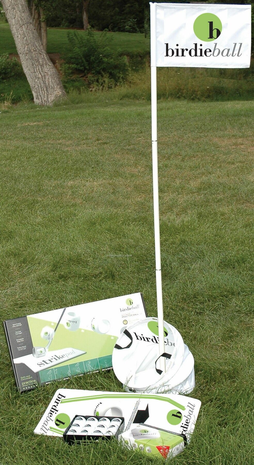 Collapsible Birdie Target W/Three Piece Flag & Carry Bag