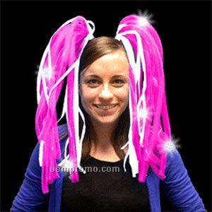 Light Up Hair - Dreads - LED Hairband - Pink