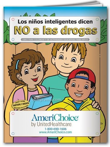 Spanish Action Pack Book W/ Crayons & Sleeve - Smart Kids Say No To Drugs