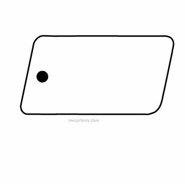 Stock Shape Collection Parallelogram 5 Key Tag