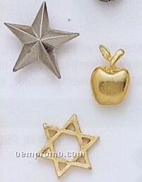 """2 Dimensional Stock Design Lapel Pin / Charm (Up To 5/16"""")"""