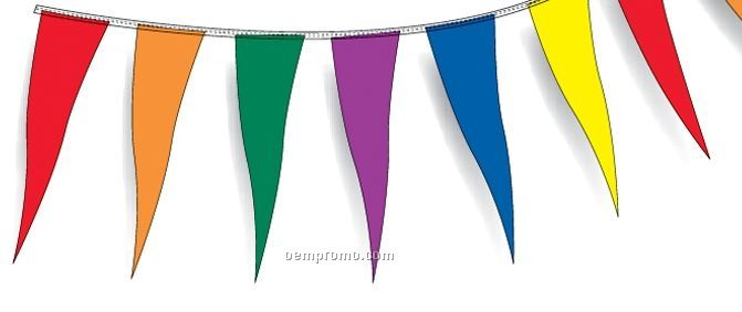 """6""""X18"""" Wind Beater 30' Pennants W/ 20 Per String - Red/White/Blue"""