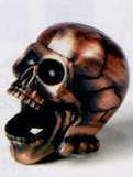 Bronze Metal Pencil Sharpener - Skull