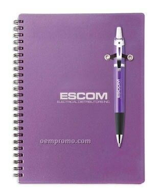 Cosmopolitan Candy Coated Pen & Spiral Bound Notebook Combo