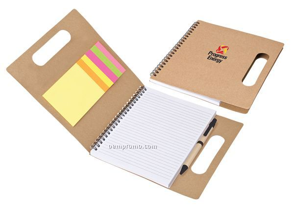 Handled Eco Set W/ Sticky Flags, Notes & Pen