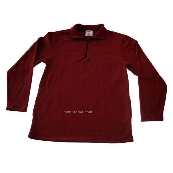 Premium Wicking Micro Fleece Pullover W/ 1/2 Zip