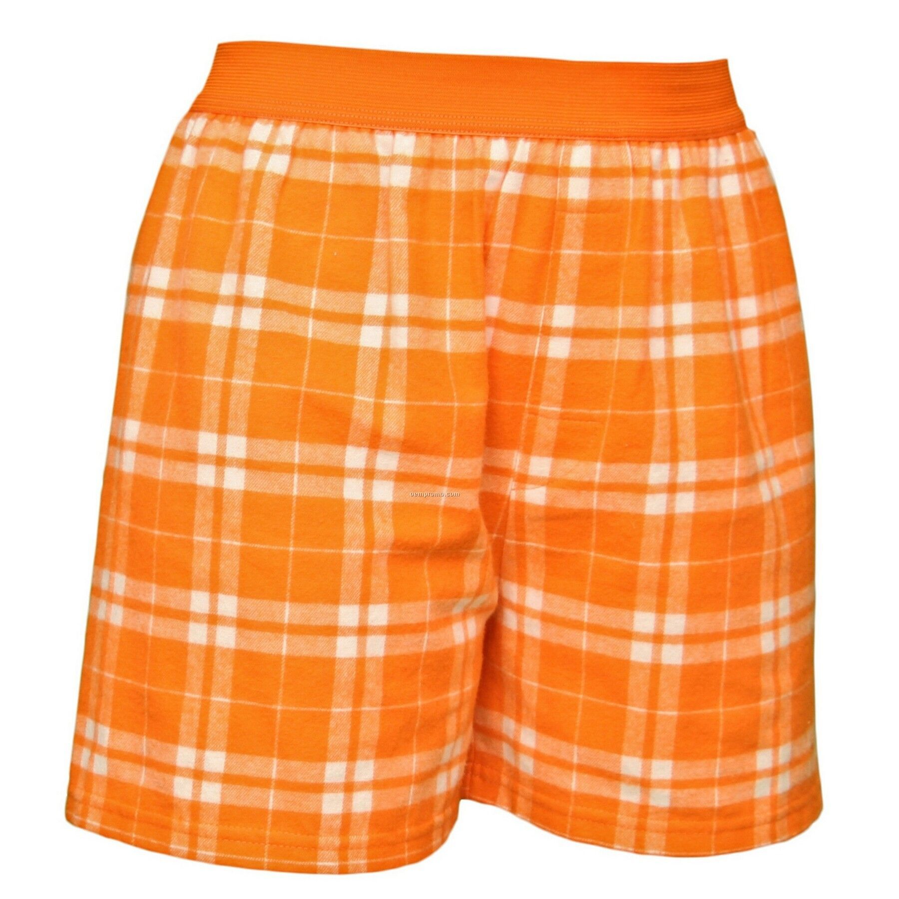 Youth Orange/ White Plaid Classic Boxer Short