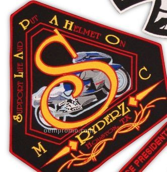 Custom Embroidered Patches (25 Square Inch) Up To 10 Thread Color
