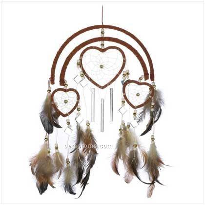 Dreamcatcher Heart Wind Chime