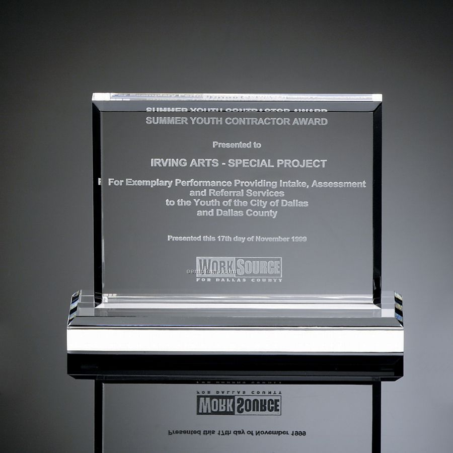 Horizontal Mount Clear Rectangular Award II