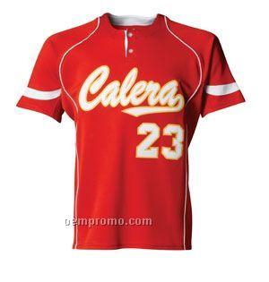 N3166 2-button Power Mesh Men's Baseball Jersey