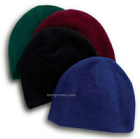 Royal Blue Eco Fleece Beanie Cap