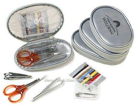 Silver Flash Travel Sewing Kit